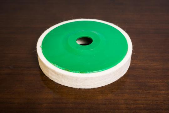 Discuri din pasla pe suport 115x15x22 mm de la Abrazivul Sa