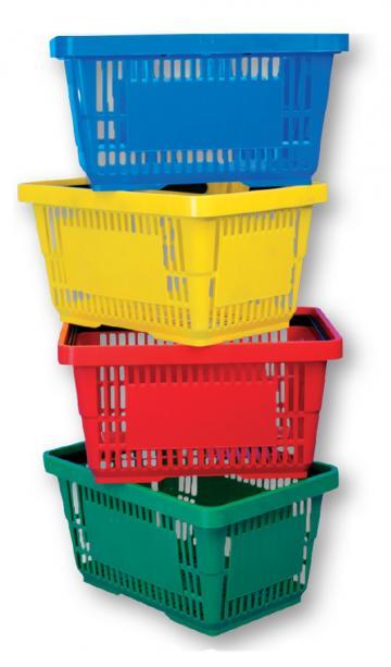 Cos cumparaturi plastic 22 litri de la Best Store Solutions Srl