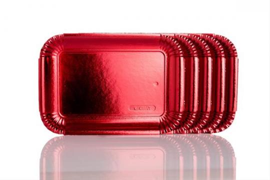 Tavite groase carton rosu metalizat N.4 (19x27cm) de la Cristian Food Industry Srl.