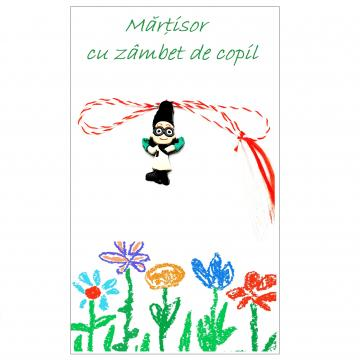 Martisor Eroi in pijamale Romeo pe cartonas APC27-AT13 de la Eos Srl (www.martisoare-shop.ro)