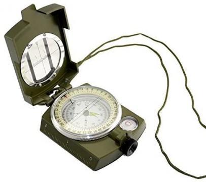 Busola militara cu ocular si reper prismatic TTG de la Www.oferteshop.ro - Cadouri Online