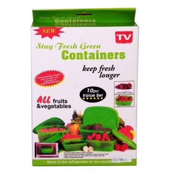 Caserole Stay Fresh Green Containers de la Www.oferteshop.ro - Cadouri Online