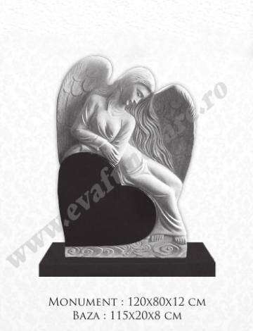Cruce granit Inger pe inima de la Casa Funerara Eva Srl