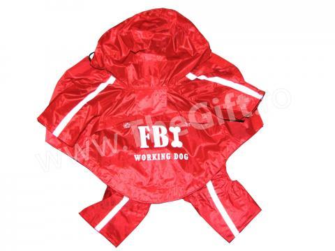 Haina de ploaie cu gluga FBI de la Thegift.ro - Cadouri Online