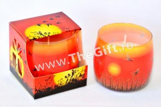 Lumanare parfumata mare, in suport de sticla de la Thegift.ro - Cadouri Online