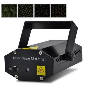 Lumina disco Mini Stage Lighting Strobolaser QC-09