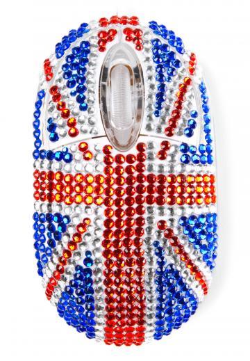 Mouse cu diamante steag UK de la Plasma Trade Srl (happymax.ro)