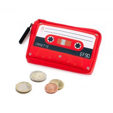 Portofel caseta audio retro rosu