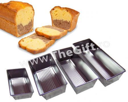 Set 4 tavi din metal, pentru cozonaci, checuri, paine