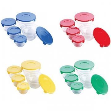 Set 5 caserole din yena cu capac plastic Cooking Bowl de la Www.oferteshop.ro - Cadouri Online