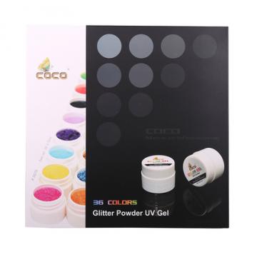 Set geluri color unghii Coco 36 culori Glitter Powder