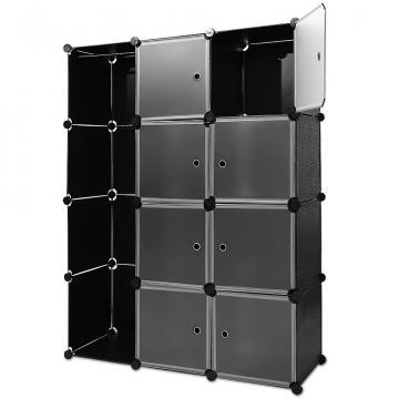 Sistem cubic modular pentru depozitare - negru