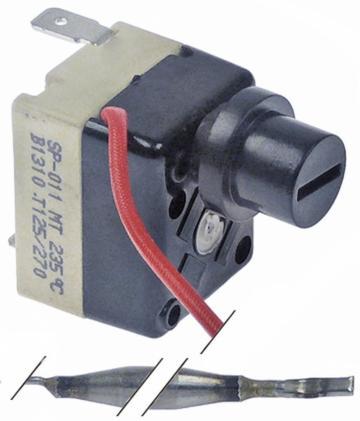 Termostat siguranta 235 C, 1NC, 16A, bulb 5mmx73mm