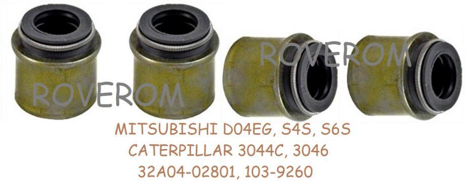Simering supape Mitsubishi D04EG, S4S, S6S,Caterpillar 3044C de la Roverom Srl