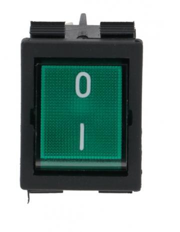 Buton verde basculant 30x22mm