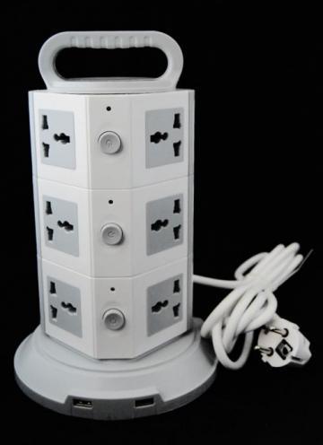 Prelungitor cu 12 prize si 2 iesiri USB de la Thegift.ro - Cadouri Online