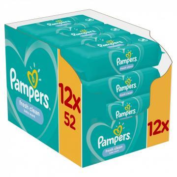 Servetele umede Pampers Fresh Clean 12x52buc