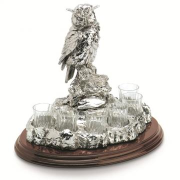 Statueta suport pentru bauturi fine Wise Owl Chinelli