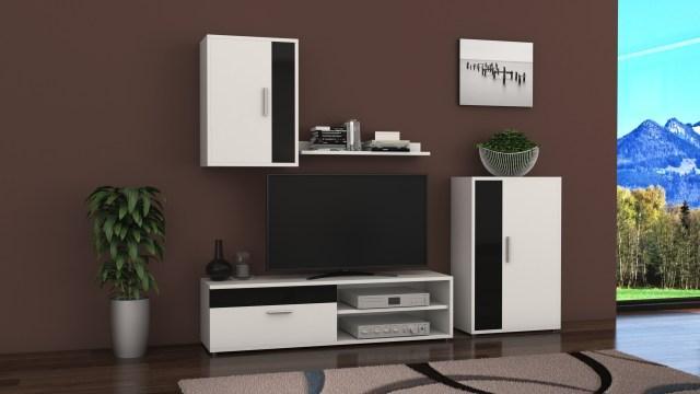 Biblioteca Mini Bucur alb/negru de la CB Furniture Srl