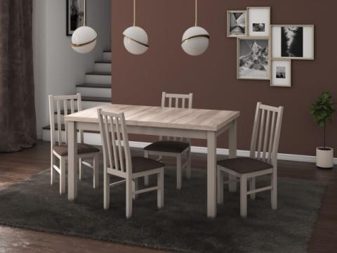 Set masa living Modena1 S cu 4 scaune Boss10 S6, sonoma de la CB Furniture Srl