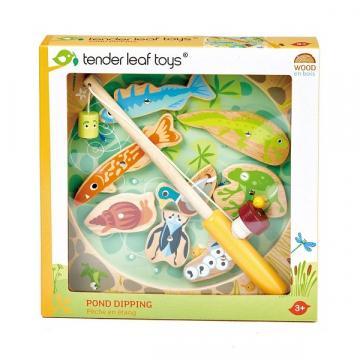 Joc magnetic cu 10 piese din lemn, pescarul cu magneti Pond de la Arca Hobber Srl