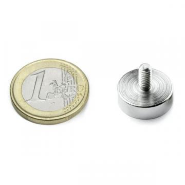 Magnet neodim oala 16 mm, cu filet exterior M4 de la Arca Hobber Srl