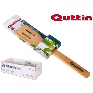 Lingura dreapta din lemn bambus cu orificii - Quttin de la Plasma Trade Srl (happymax.ro)