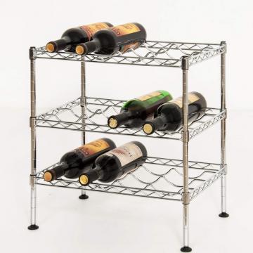 Suport otel cromat depozitare sticle vin - Confortime de la Plasma Trade Srl (happymax.ro)