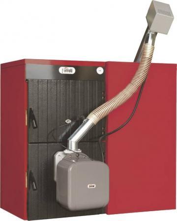 Cazan mixt lemn/pelet Ferroli Sunpellet 5, 36kW de la Axa Industries Srl