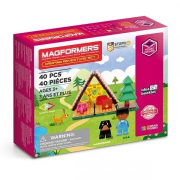 Joc de constructie cu piese magnetice, Magformers 40 piese de la Arca Hobber Srl