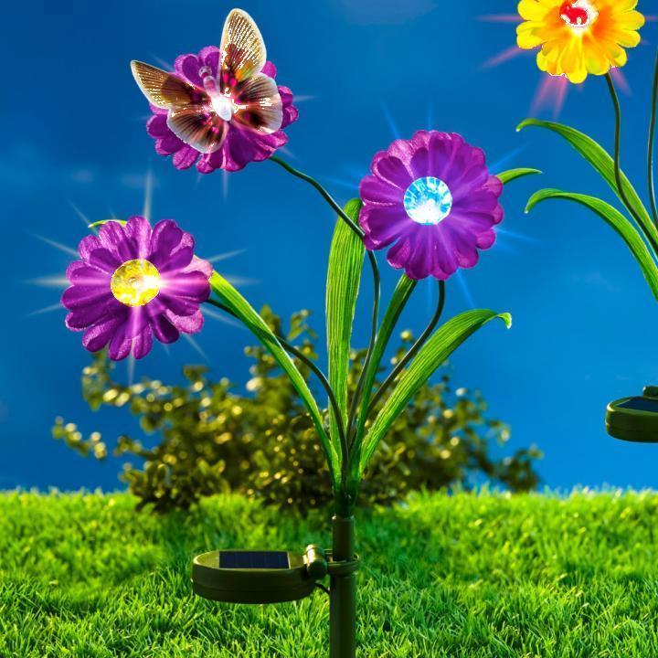 Decoratiune Floare solara de gradina - mov