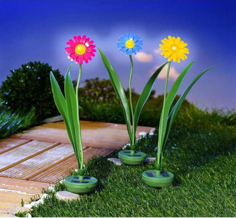 Decoratiune gradina floare solara - roz