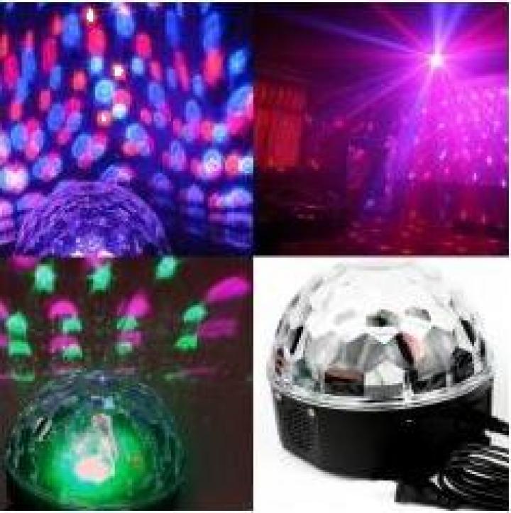 Glob disco cu lumini multicolore