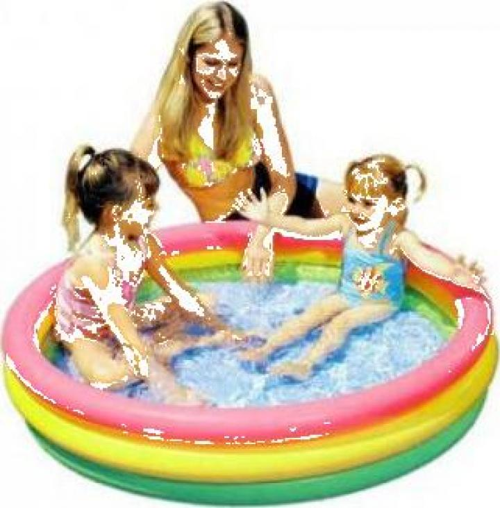 piscina gonflabila pentru bebelusi intex sunset glow