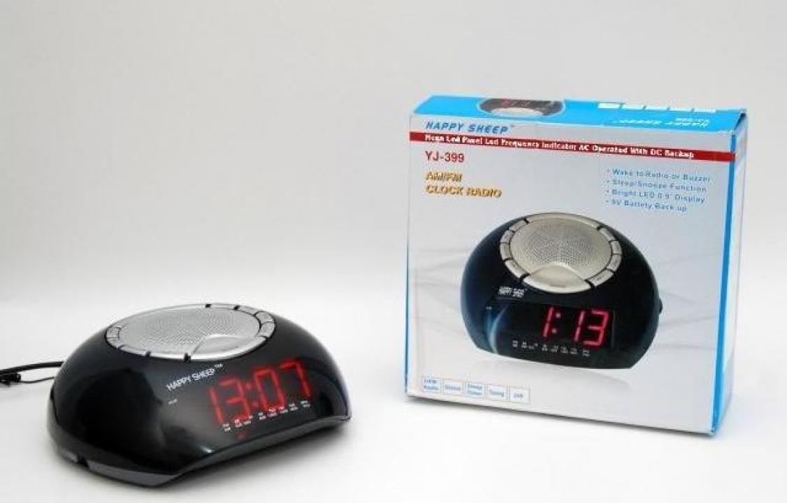 Radio cu ceas digital si alarma - Happy Sheep