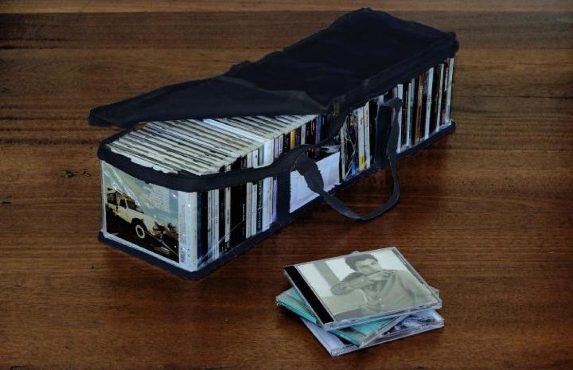 Husa transparenta pentru 50 cd-uri, neagra