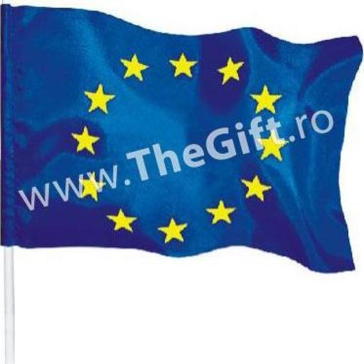 Mini steag UE, cu maner