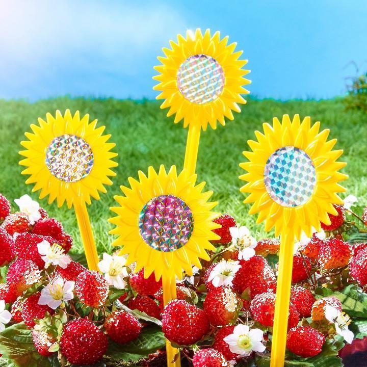 Sperietori pasari in forma de floarea soarelui, 12 buc