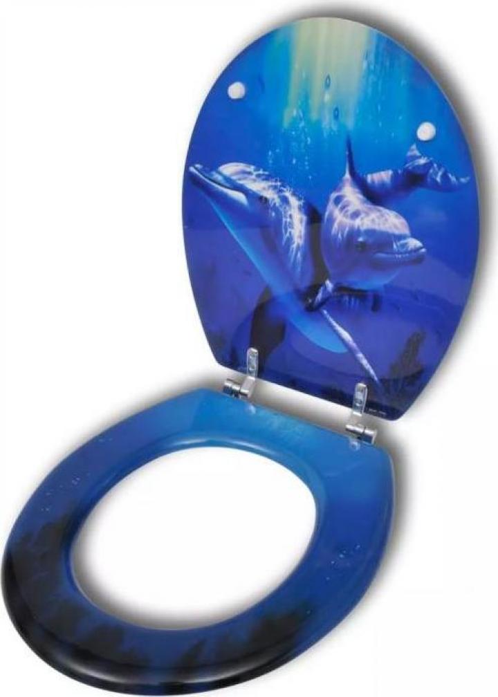 Capac WC MDF design delfini