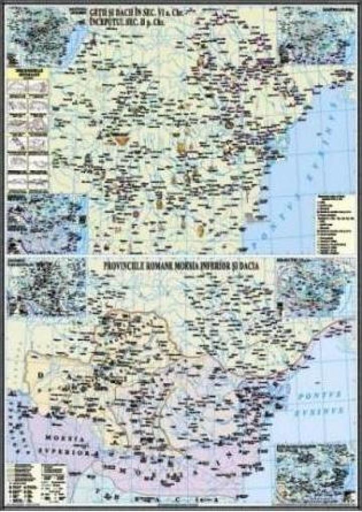 Harta murala Civilizatia geto-dacilor