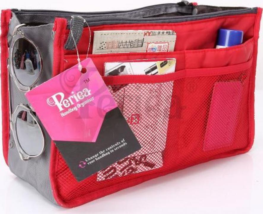 Organizator geanta sau poseta Chelsy rosu mare