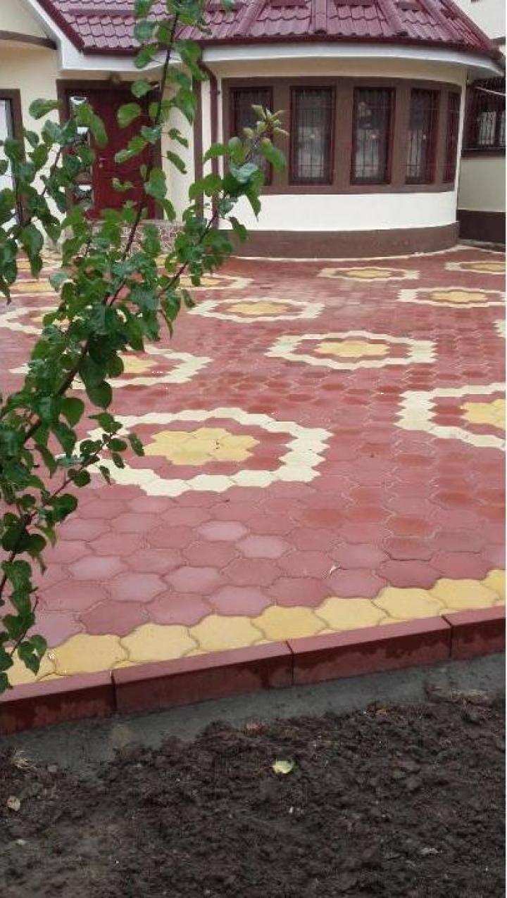 Pavaj colorat ciment gri rosu 5cm