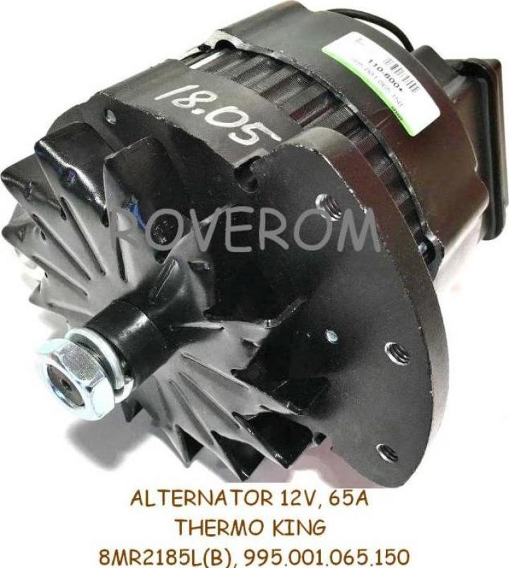 Alternator 12v, 65A, Thermo King, Carrier, Motorola