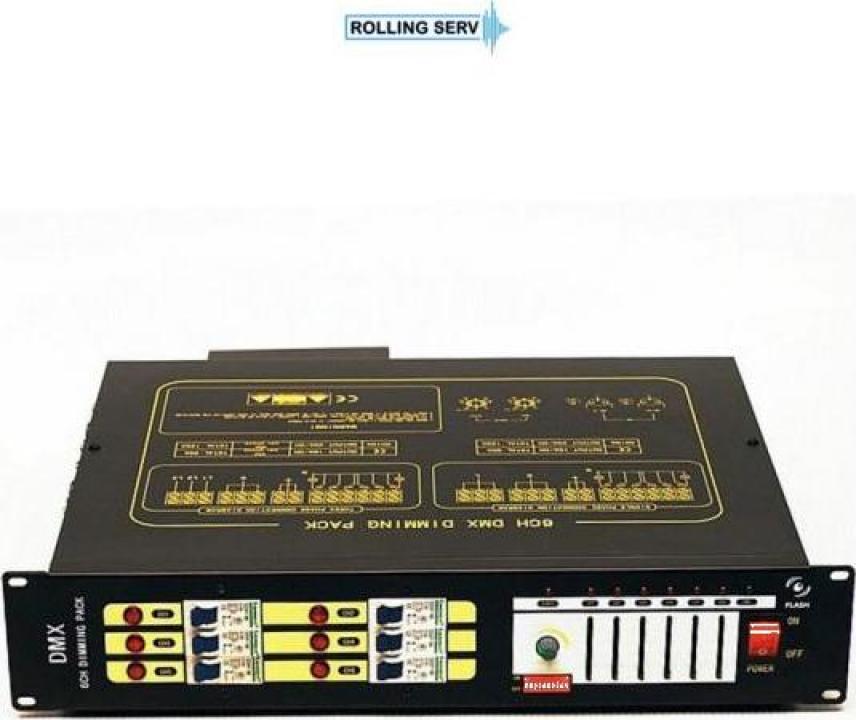 Dimmer Flash pack 6X20A DMX 512