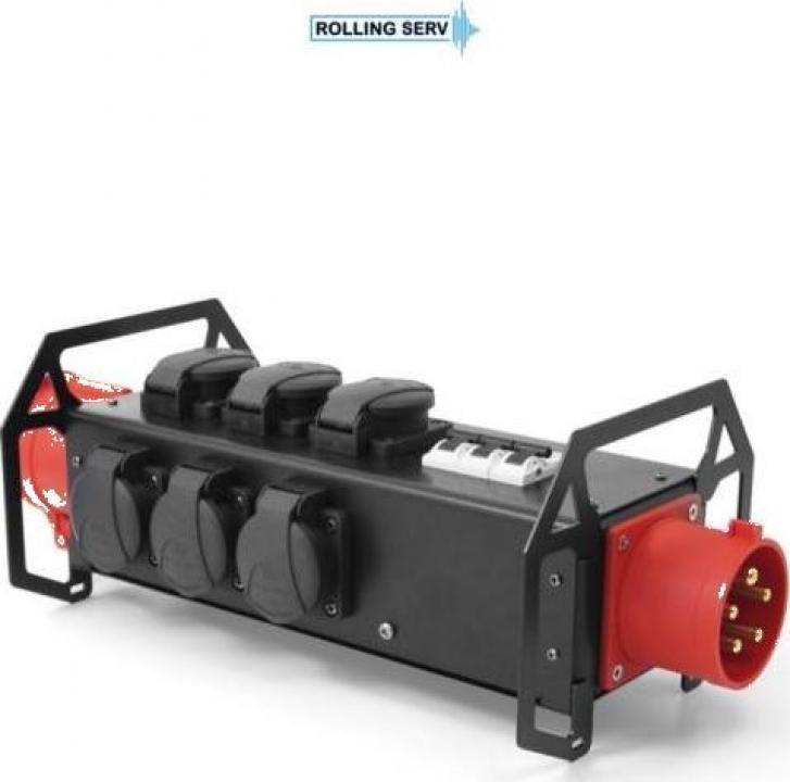 Banda de alimentare Power bar 0,5m 8x 16A 230V