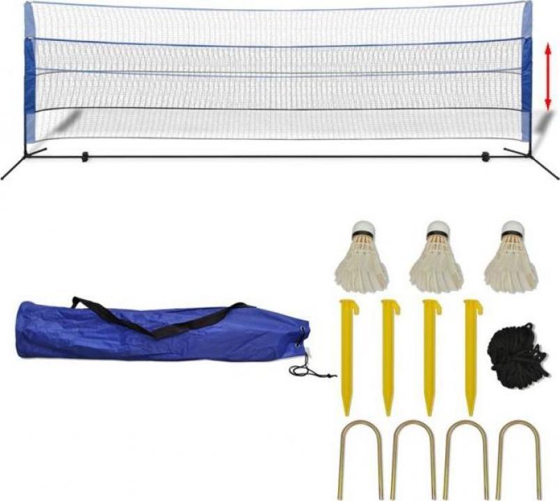 Set fileu de badminton, cu fluturasi, 500x155 cm