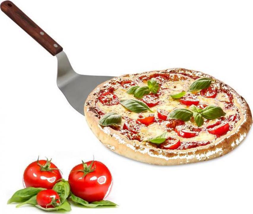 Paleta pizza cu maner din lemn