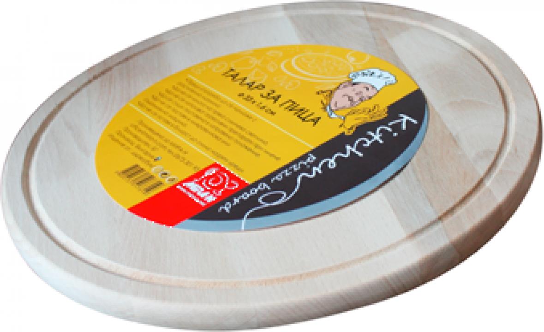 Platou din lemn pentru servire pizza Raki 31x1,6cm