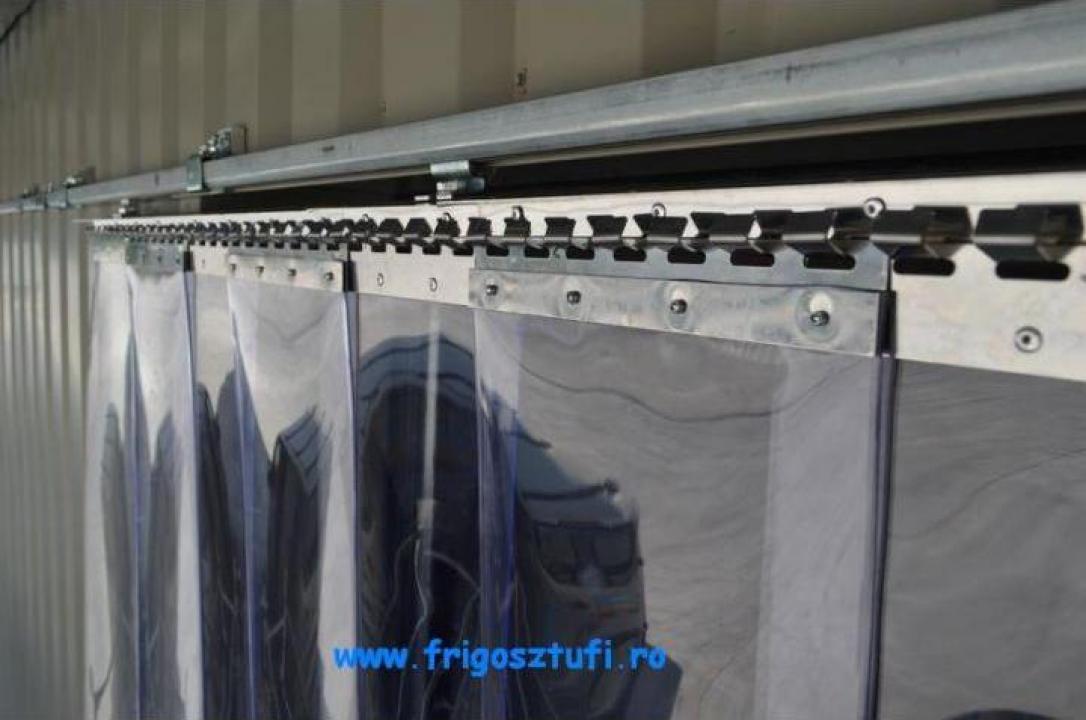 Perdea PVC cu sistem de fixare culisanta