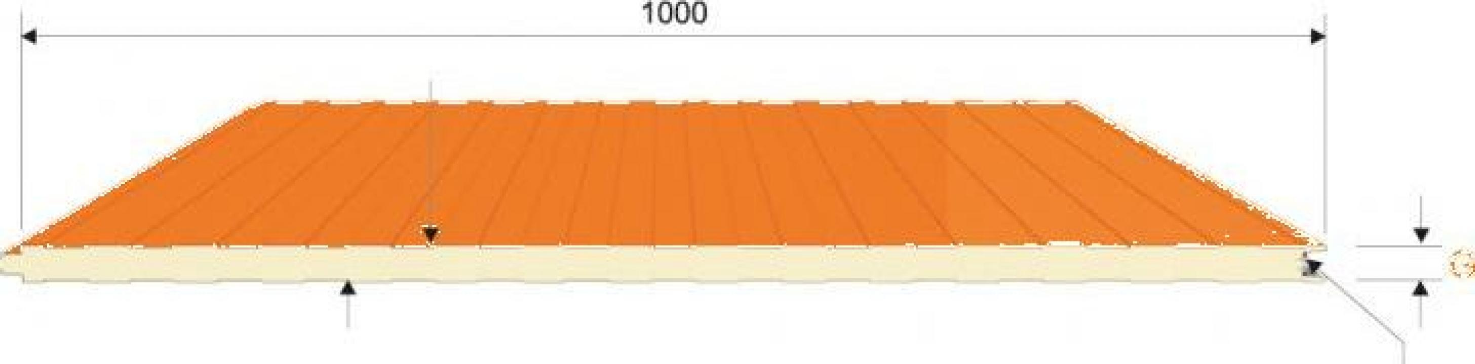 Panou sandwich perete prindere vizibila poliuretan